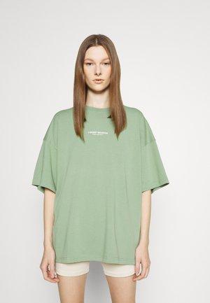 WASHED WOMEN - Print T-shirt - sage green