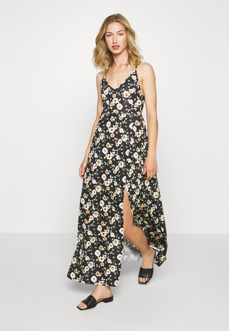 Even&Odd - Maxi-jurk - black/yellow