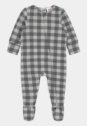 THE LONG SLEEVE ZIP UNISEX - Sleep suit - rabbit grey/cloud marle