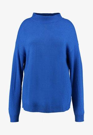 LADIES OVERSIZE TURTLENECK - Jumper - bright blue