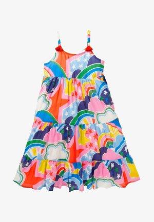 MIT QUASTEN - Day dress - bunt sterne/regenbögen