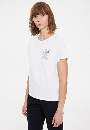 PORPOISE - Print T-shirt - white
