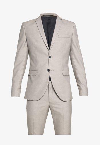 SLHSLIM SUIT - Kostym - beige