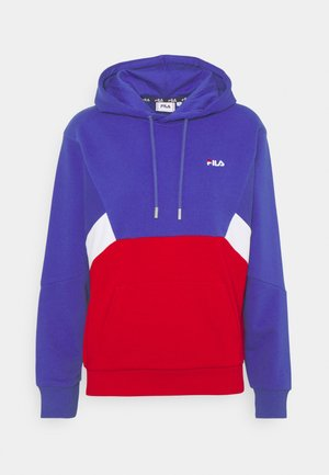 AMYA CROPPED HOODY - Sweater - clematis blue/true red/bright white