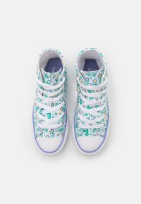 Converse - CHUCK TAYLOR ALL STAR FLORAL - High-top trainers - white/twilight pulse/citron pulse - 3