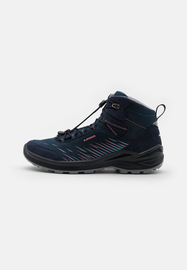 ZIRROX GTX MID JUNIOR UNISEX - Chaussures de marche - navy/rosé