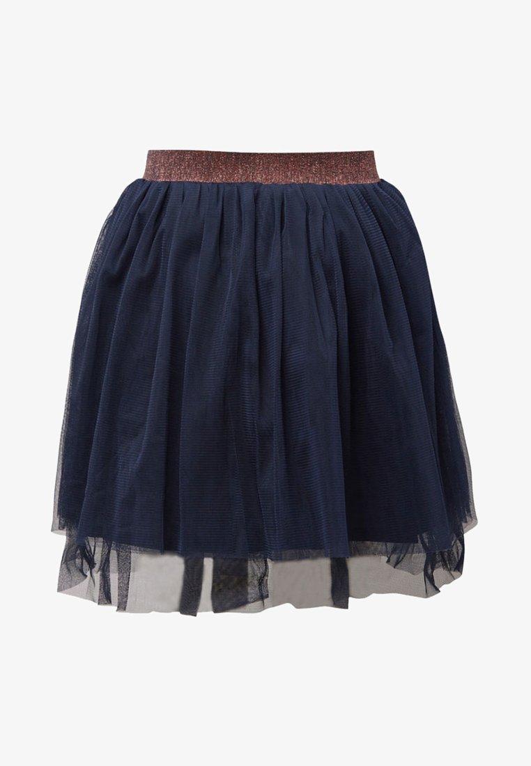 TOM TAILOR - Pleated skirt - black iris|blue