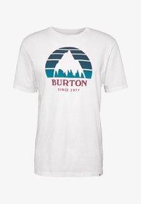 Burton - MEN'S UNDERHILL SHORT SLEEVE - Triko spotiskem - white - 4