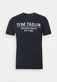 TOM TAILOR - Triko spotiskem - sky captain blue - 3