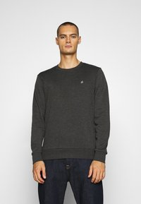 Jack & Jones - JORBASIC CREW NECK 2 PACK - Sweatshirt - dark grey melange - 1