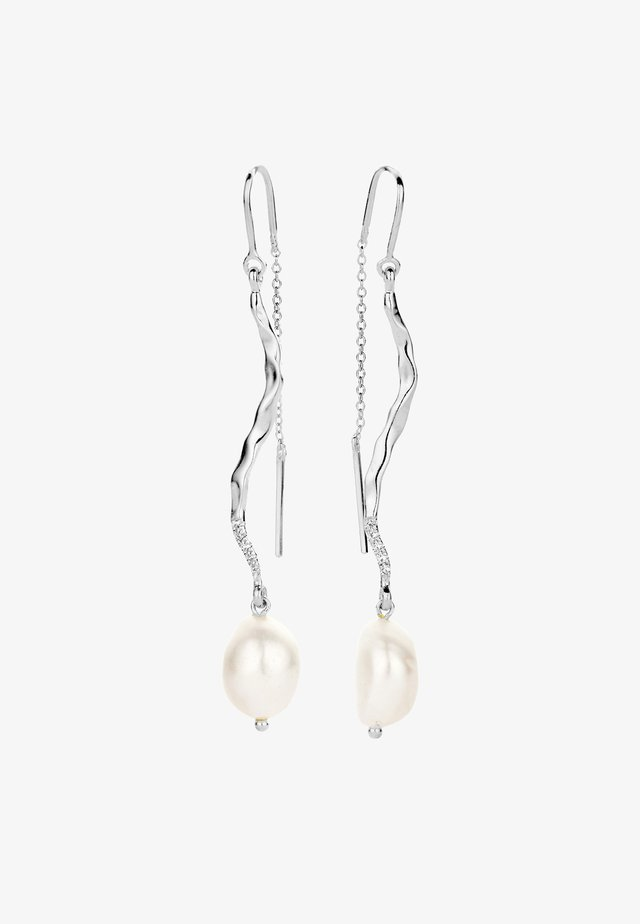 MARILYN PEARL DIAMOND EARRINGS - Boucles d'oreilles - white rhodium silver
