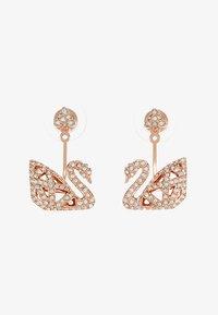 Swarovski - FACET SWAN - Earrings - rosegold-coloured - 3