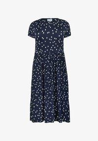 Live Unlimited London - Day dress - dark blue / white - 2