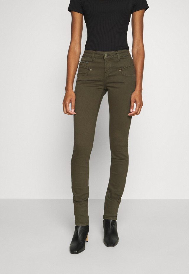 ALEXA HIGH WAIST NEW MAGIC - Trousers - black olive