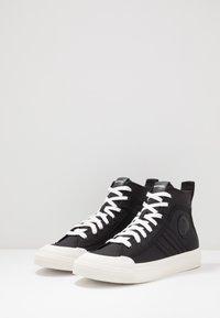 Diesel - ASTICO S-ASTICO MID LACE - Sneakers alte - black/white - 2