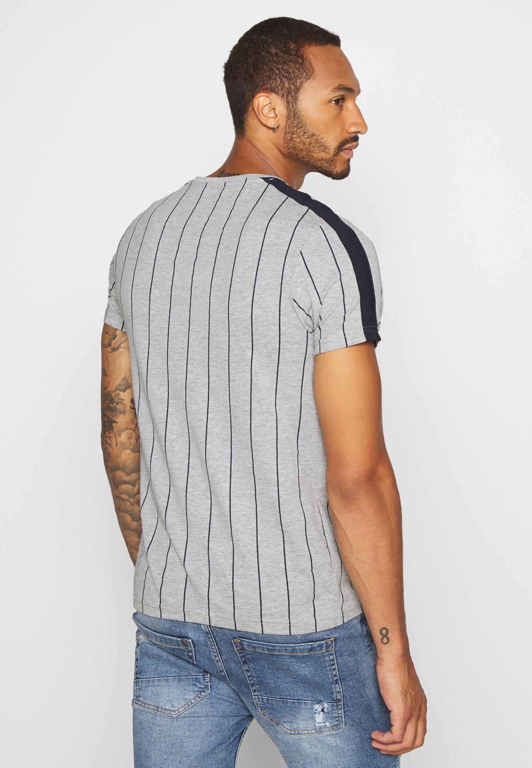 Brave Soul FLYNN - Print T-shirt - light grey WTwFf