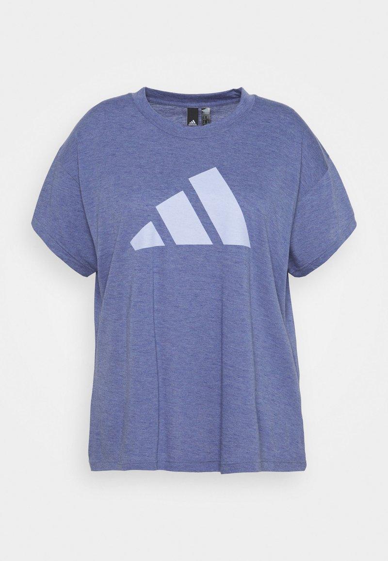 adidas Performance - WIN TEE - T-shirts med print - orbit violet melange