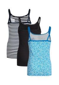 WE Fashion - MET RIBSTRUCTUUR EN KANT, 3-PACK - Top - blue - 4