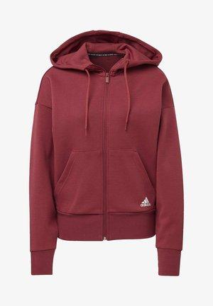 STRIPES DOUBLEKNIT FULL-ZIP SCUBA HOODIE - Zip-up hoodie - red