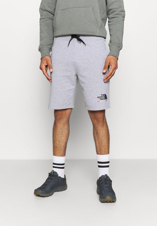 RAINBOW SHORT - Short de sport - light grey heather