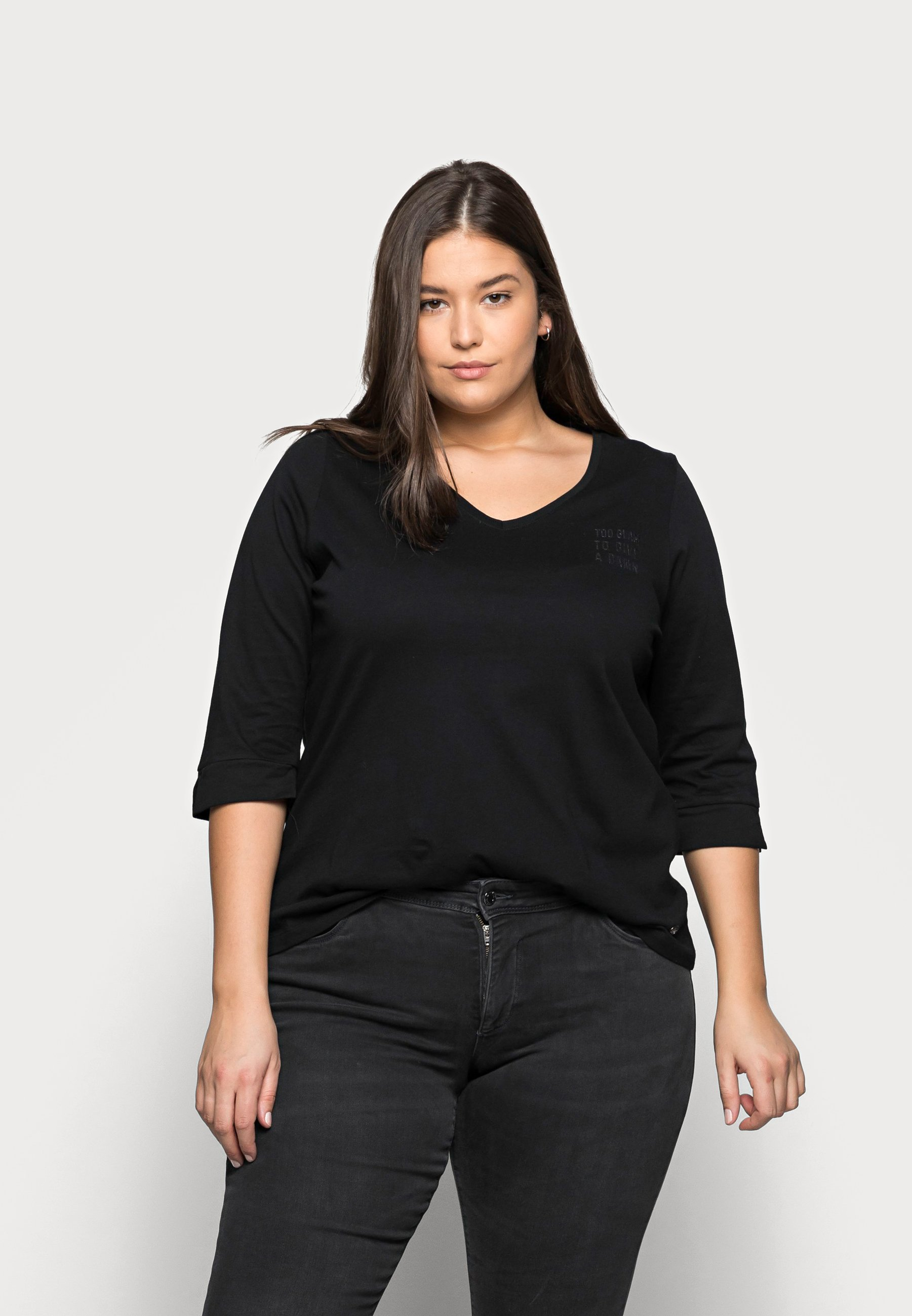 Women WITH VNECK - Long sleeved top