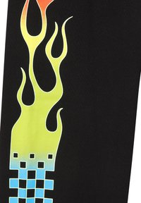 Vans - BY GLOW FLAME FLEECE - Pantalon classique - black - 3