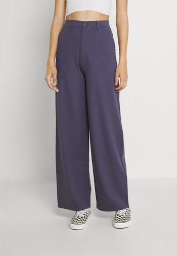 WIDE LEG - Pantaloni - blue