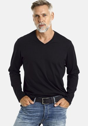 2 PACK - Long sleeved top - schwarz
