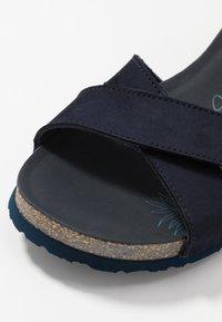 Panama Jack - VIERI BASICS - Sandály na platformě - dunkelblau - 2