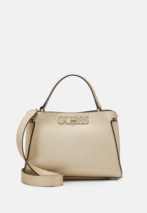 UPTOWN CHIC TURNLOCK SATCHEL - Handbag - gold