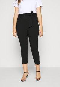 Vero Moda Curve - VMEVA PAPERBAG PANT - Bukse - black - 0