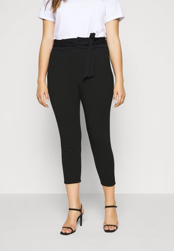 VMEVA PAPERBAG PANT - Bukse - black
