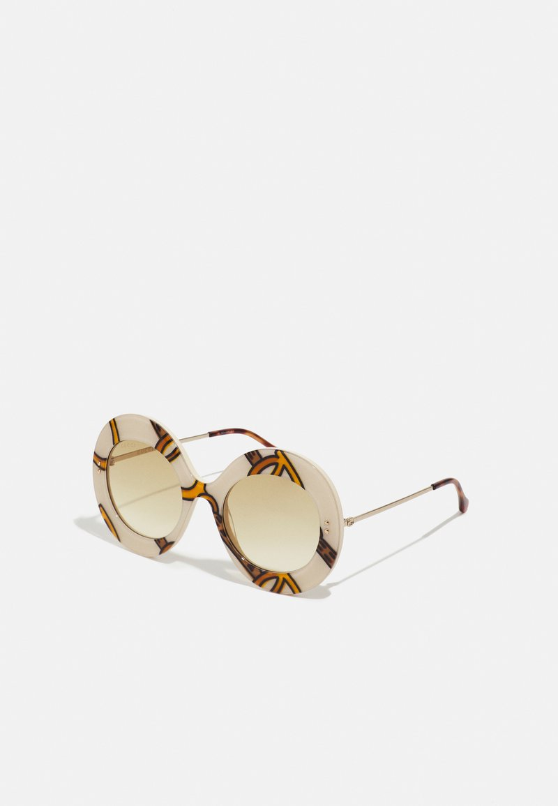 Gucci - Sunglasses - ivory/gold-coloured/brown