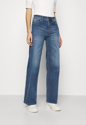 PALAZZO - Flared Jeans - dark stone
