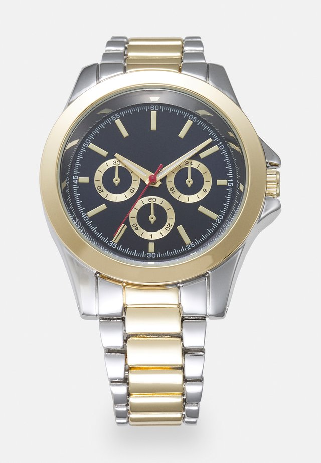 MIXED WATCH - Orologio - gold-coloured/silver-coloured/blue