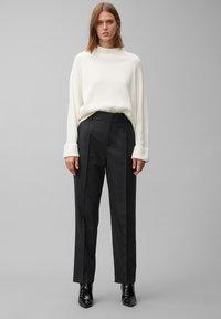 Marc O'Polo PURE - Trousers - pure black - 1