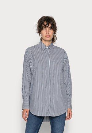 ENOLA STRIPE  - Button-down blouse - salute navy