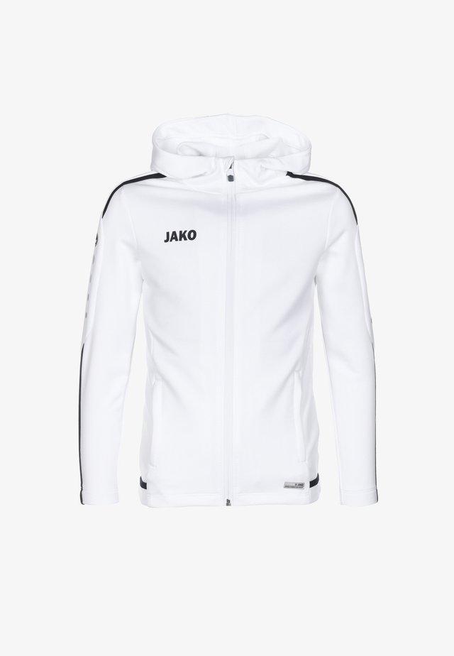 veste en sweat zippée - weiß / marine