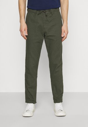 LANG - Kalhoty - khaki/oliv