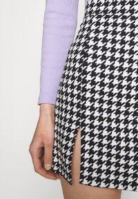 WAL G. - GEMMA DOG TOOTH SKIRT - Mini skirt - black/white - 4