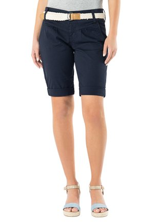 CHINO BERMUDA MIT GÜRTEL - Shorts - dark-blue