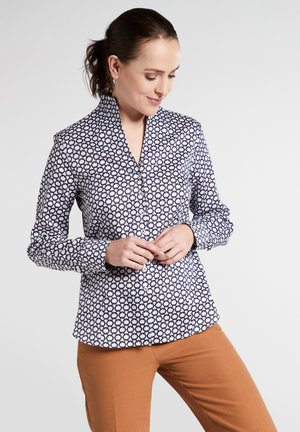FITTED WAIST - Button-down blouse - navy/white