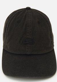 Nike SB - WASHED UNISEX - Czapka z daszkiem - black/black - 3