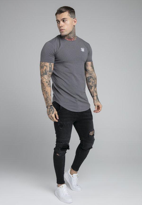 SIKSILK NEPS TEE - T-shirt basic - grey/szary Odzież Męska RWZN
