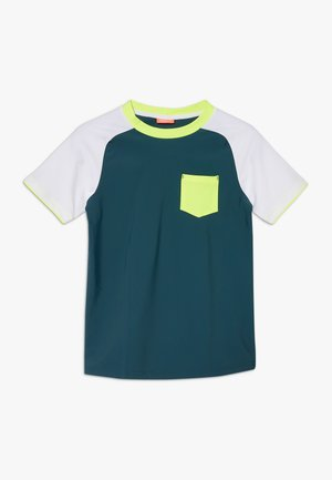 BOYS SLEEVE RASH VEST - Rash vest - teal