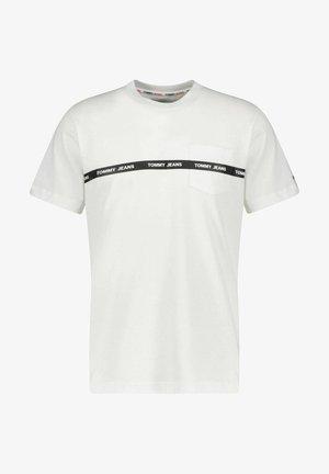 BRANDED TAPE TEE - Print T-shirt - white