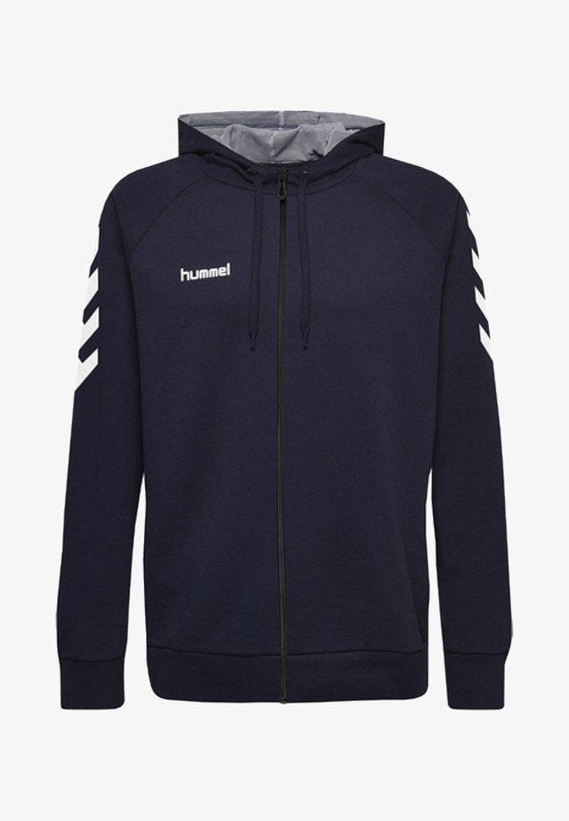 ZIP HOODIE - veste en sweat zippée - marine