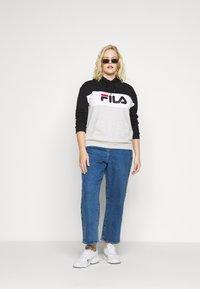 Fila Plus - LORI HOODY - Hoodie - black/light grey melange/bright white - 1