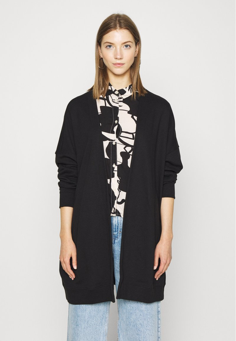 Monki - CAMILLA CARDIGAN - Hettejakke - black dark