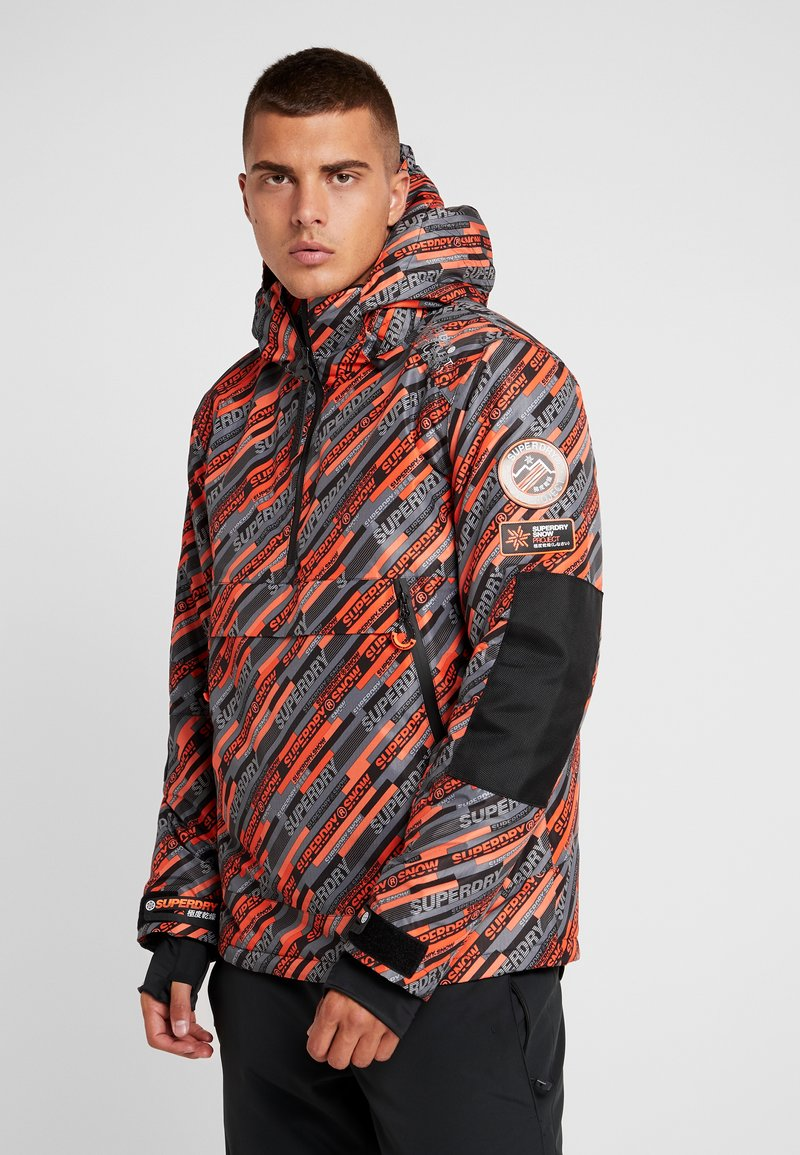 Superdry - Kurtka narciarska - orange/grey